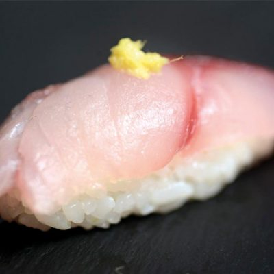 Nigiri with horse mackerel