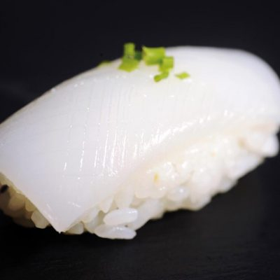 Nigiri with raw squid