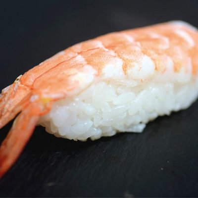 Nigiri with boiled shrimp